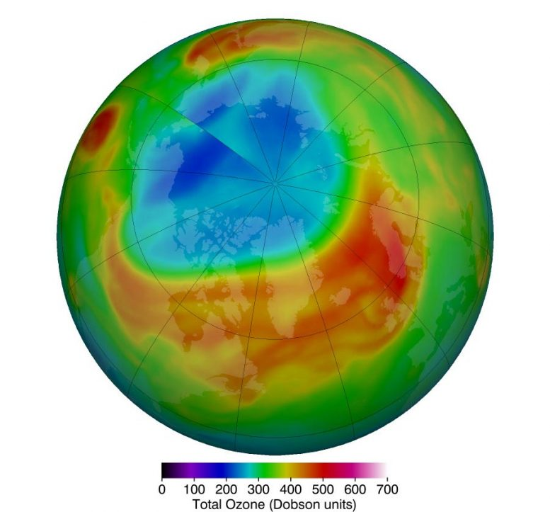 Arctic Stratospheric Ozone March 2020