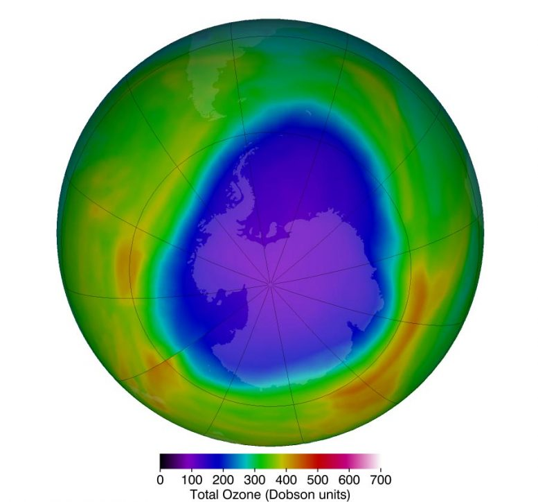 Arctic Stratospheric Ozone October 2018