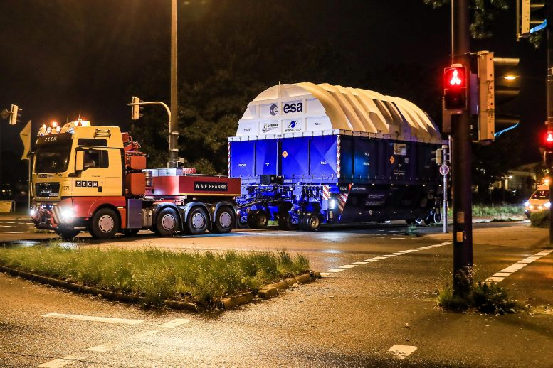 Ariane 5 Upper Stage for Webb Heads for Europe's Spaceport