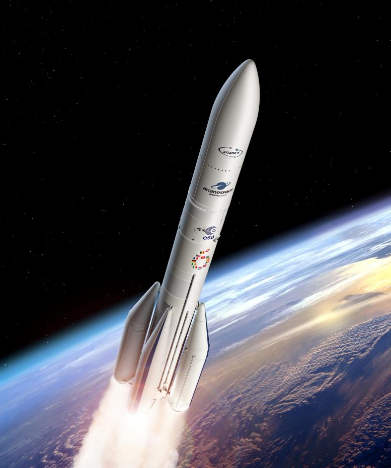 Ariane 6 Using Four Boosters