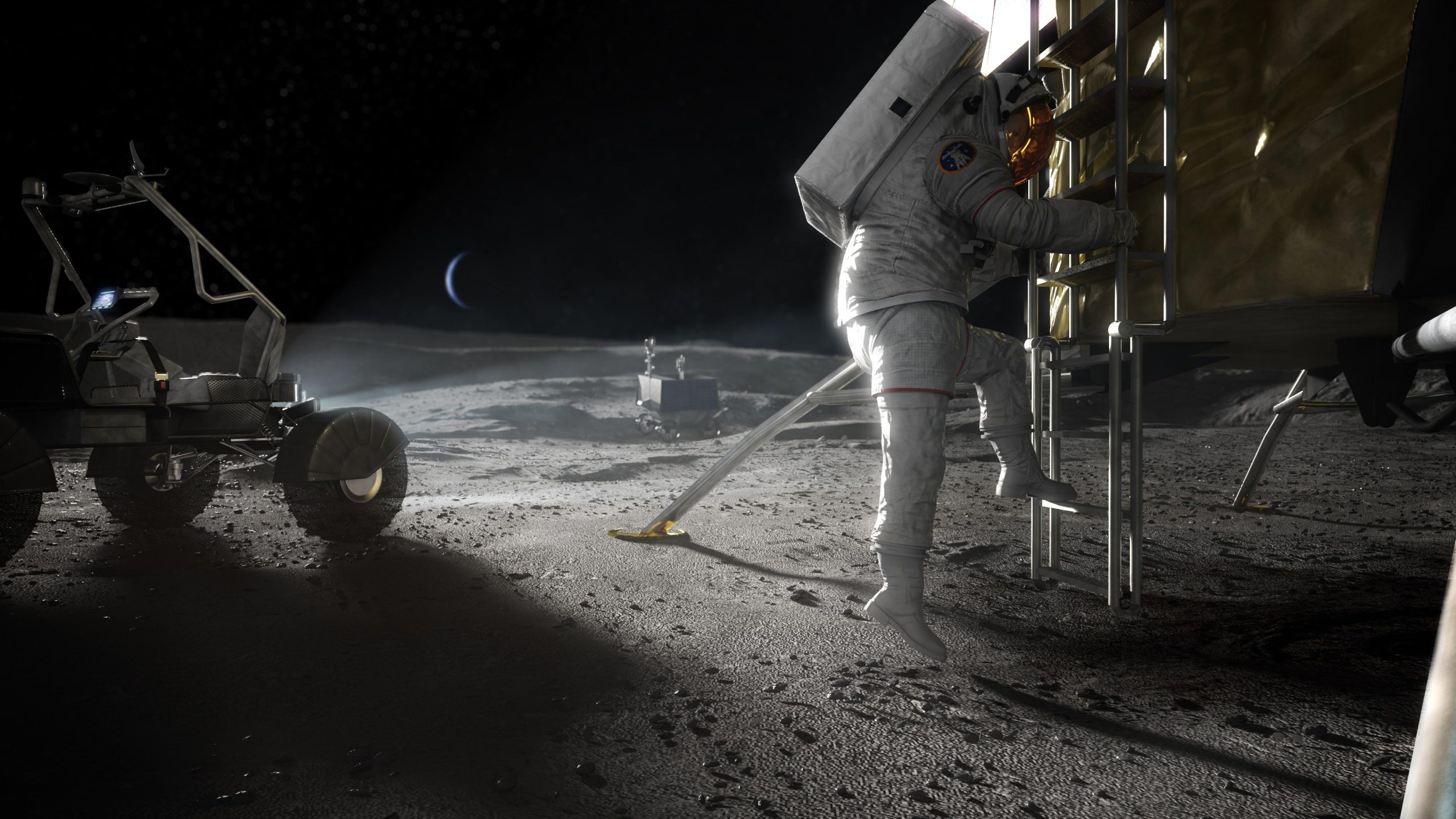 NASA Offers $45M to Reduce Risks for Artemis Astronaut Moon Landing Services thumbnail