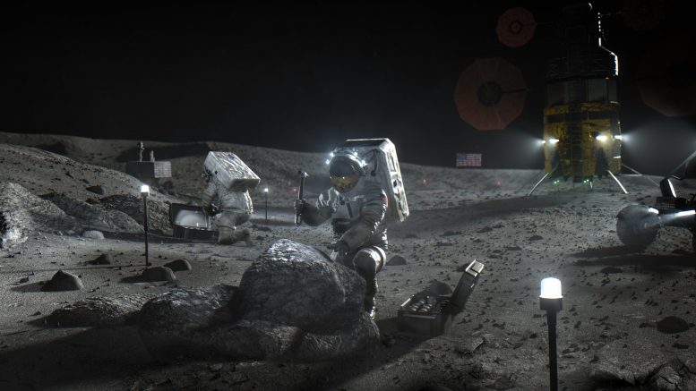Artemis Astronauts on the Moon