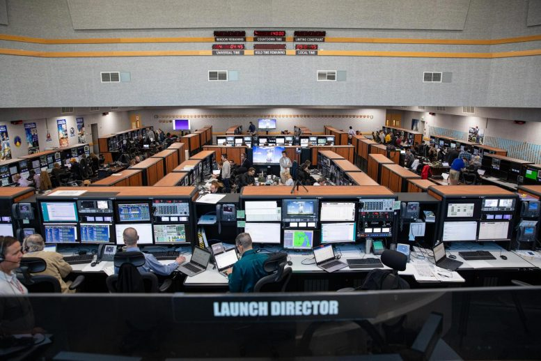 Artemis I Launch Team Countdown Simulation Inside Launch Control Center Firing Room 1