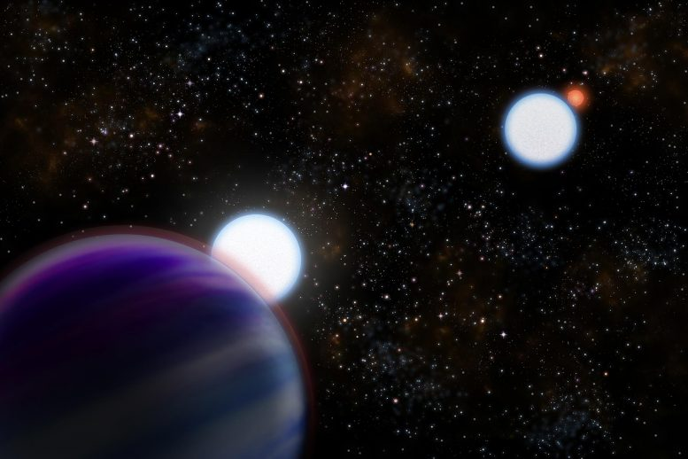 Artist's Conception of the Kepler-13AB Binary Star System