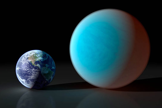 Artist Impression of a Super Earth