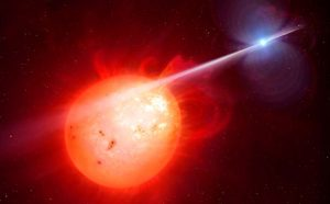 Artist Impression of the Exotic Binary Star System AR Scorpii
