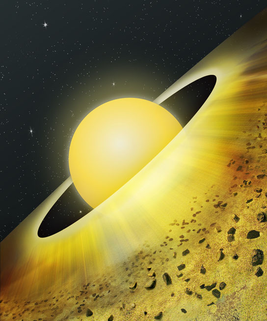 Artist's Conception of Dusty Disk Around Young Star TW Hydrae