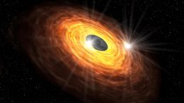 Artist's Impression of the Gaseous Disk Around the Supermassive Black Hole