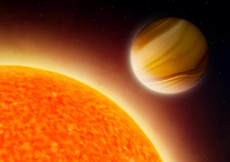 Artist's Impression of Giant Exoplanet