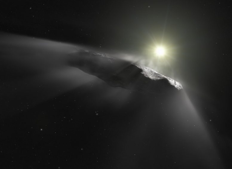 Artists Impression Interstellar Asteroid Oumuamua