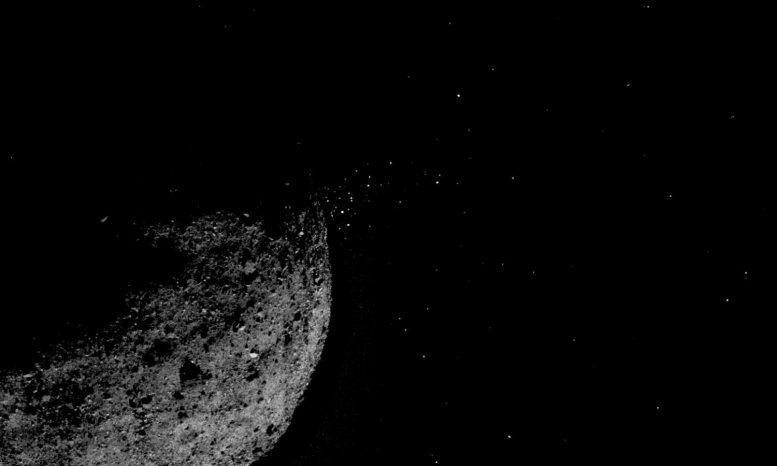 Bennu particles of the asteroid