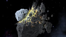 Asteroid Break-Up Illustration