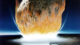Asteroid Impact Illustration