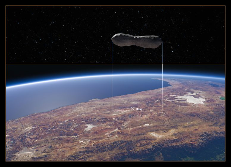 Asteroid Kleopatra Chile