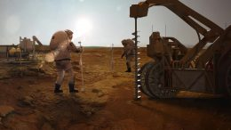 Astronauts Drilling for Water on Mars