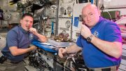 Astronauts Scott Kelly Kjell Lindgren