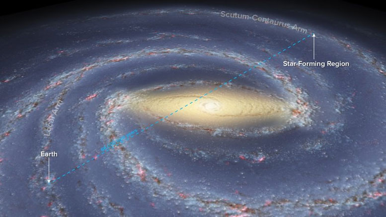 Astronomers Achieve Record Measurement of Our Galaxy