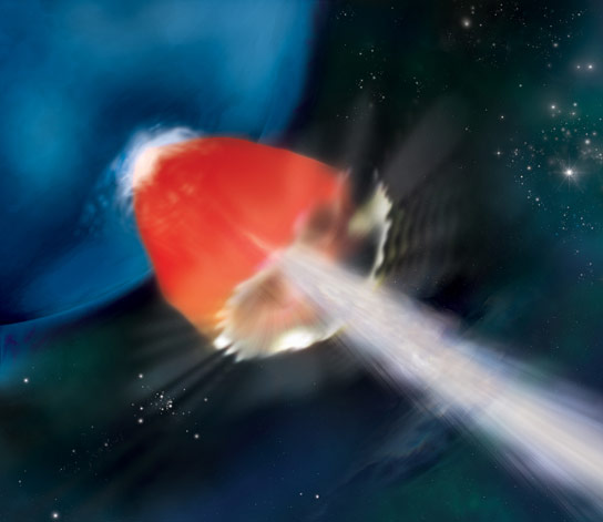 Astronomers Analyze a Long Lasting Blast of High Energy from a Star