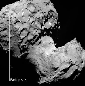 Astronomers Choose Rosetta Landing Site on Comet 67P