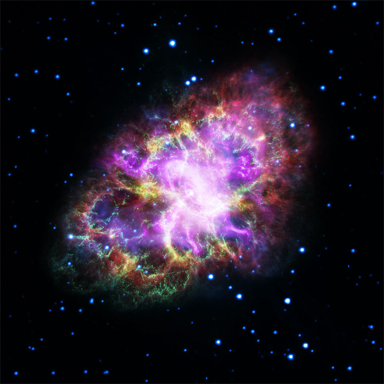 Astronomers Combine Data to Create New Image of the Crab Nebula