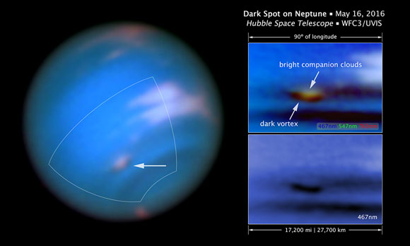 Astronomers Confirm New Dark Spot on Neptune