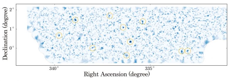 Astronomers Create Unprecedentedly Wide and Sharp Dark Matter Map