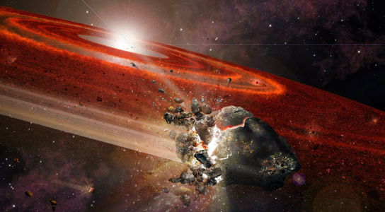 Astronomers Detect Pluto-Size Objects swarming Around an Adolescent Sun