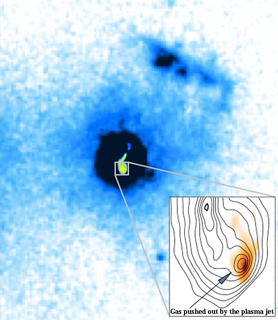 Astronomers Discover Powerful Jets Blowing Material Out of Galaxy