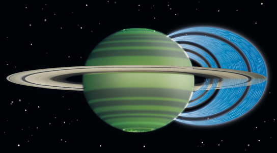 Astronomers Discover Rain Falling from Saturns Rings