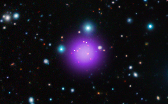 Astronomers Discover Record-Breaking Galaxy Cluster