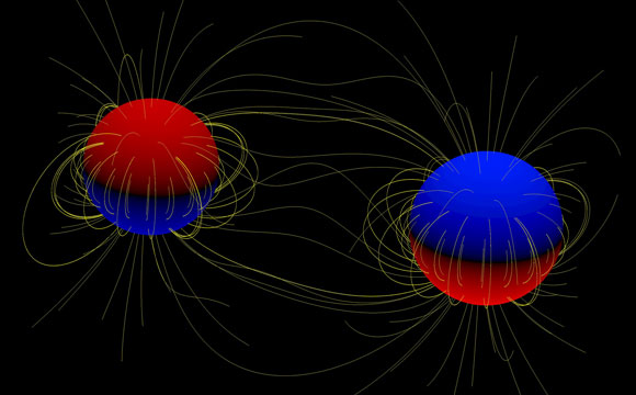 Astronomers Discover Two Massive Stars with Magnetic Fields in a Binary System