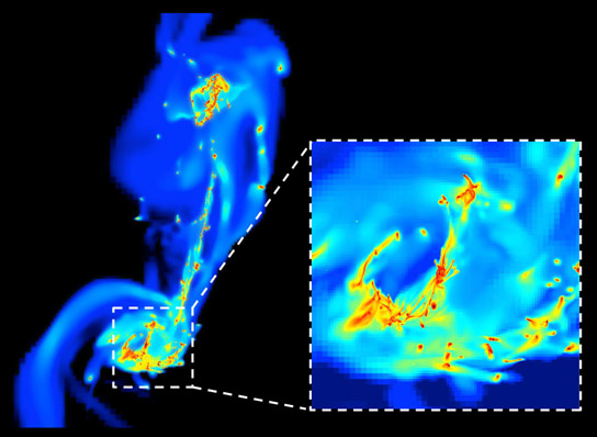 Astronomers Discover Why Surges of Starbursts Take Place When Galaxies Collide