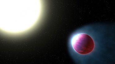 Astronomers Discover an Ultrahot Gas-Giant Exoplanet with a Stratosphere
