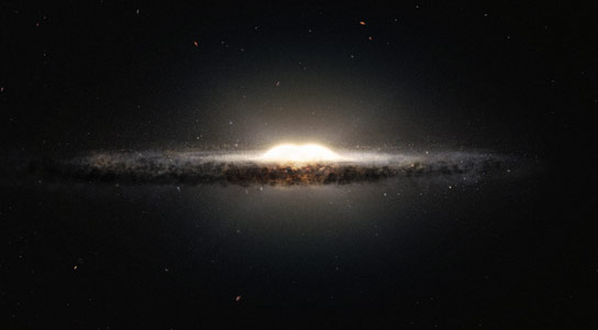 Astronomers Discover that the Inner Regions of Milky Way Galaxy Have a Peanut Like Shape