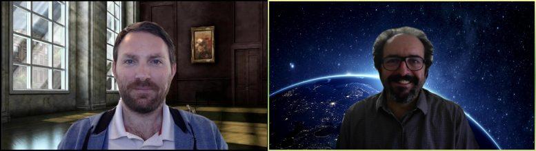 Astronomers Dominic Walton and Daniel Stern