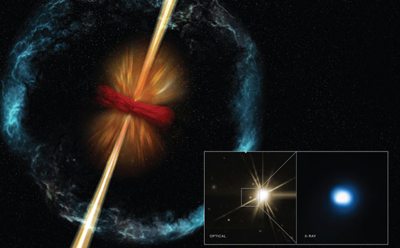 Astronomers Find Evidence for Violent Stellar Merger