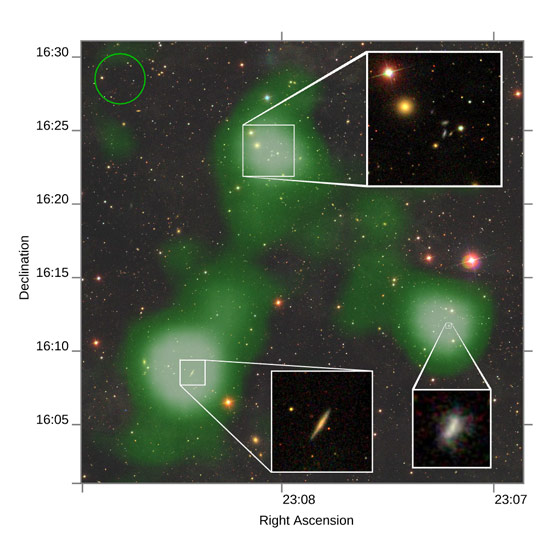 Astronomers Find a Bridge of Atomic Hydrogen Gas 2.6 Million Light Years Long