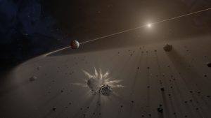 Astronomers Look for Exoplanet Debris Disks
