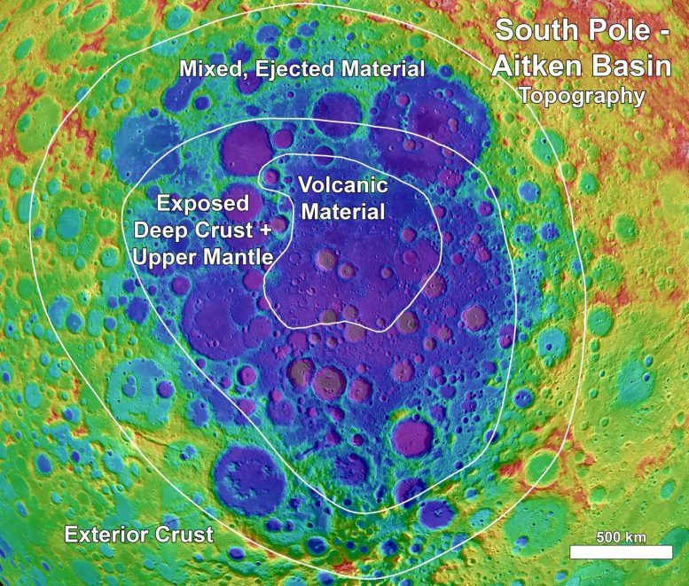 Astronomers Map the Mineralogy of the Moon's South Pole-Aitken Basin