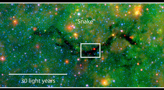 Astronomers Observe Polarized Dust Emission of Two Dark Clouds
