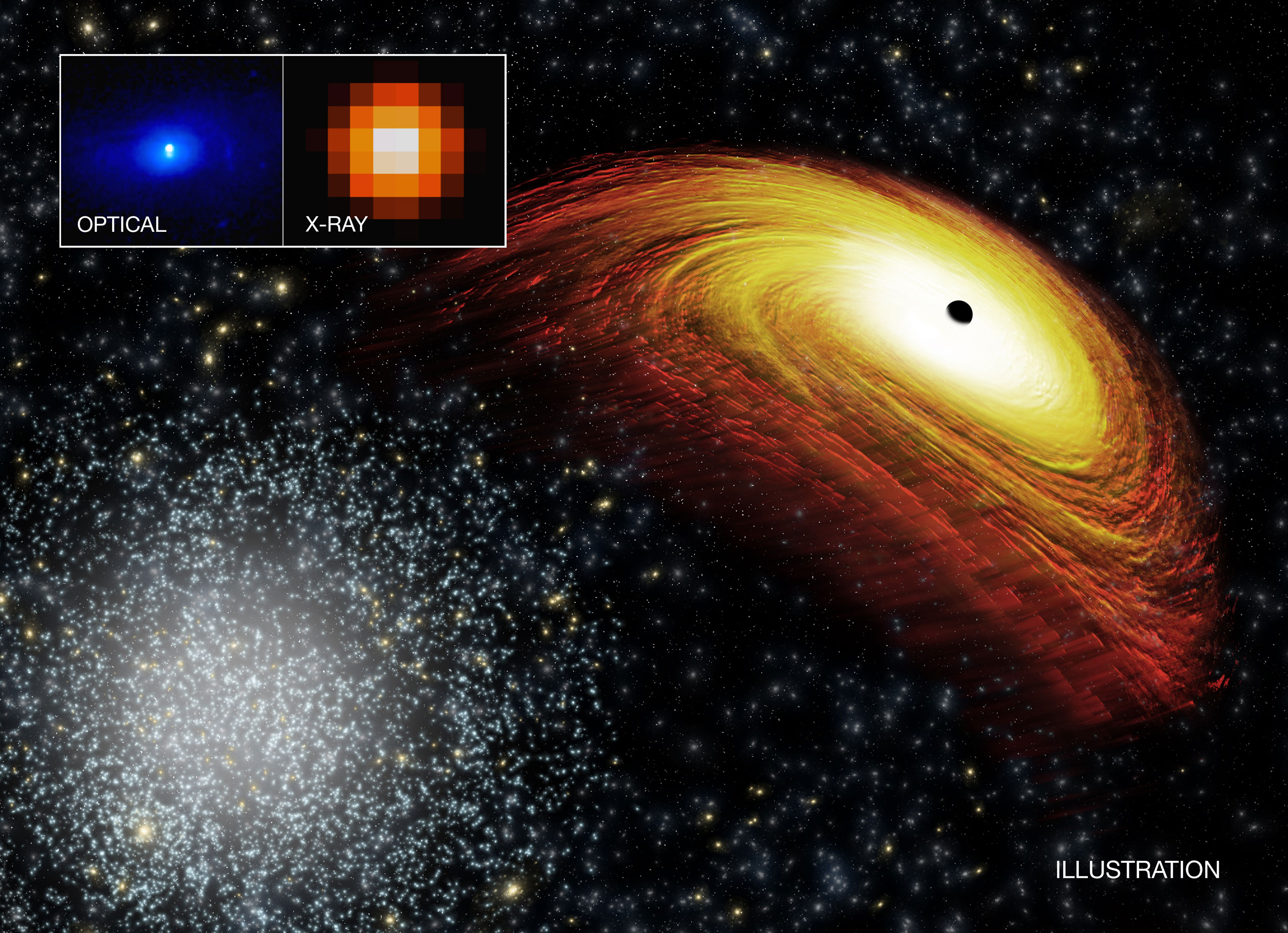 Astronomers Discover A Potential Recoiling Supermassive
