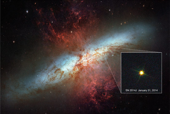 Astronomers Reveal the Mysteries of Supernova 2014J in Galaxy M82