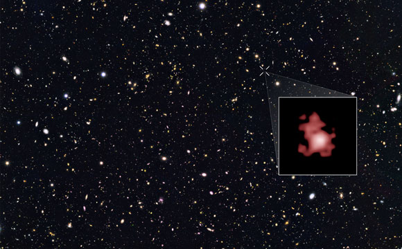 Astronomers Use Hubble to Break Cosmic Distance Record