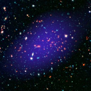 Astronomers View Galaxy Cluster MOO J1142+1527