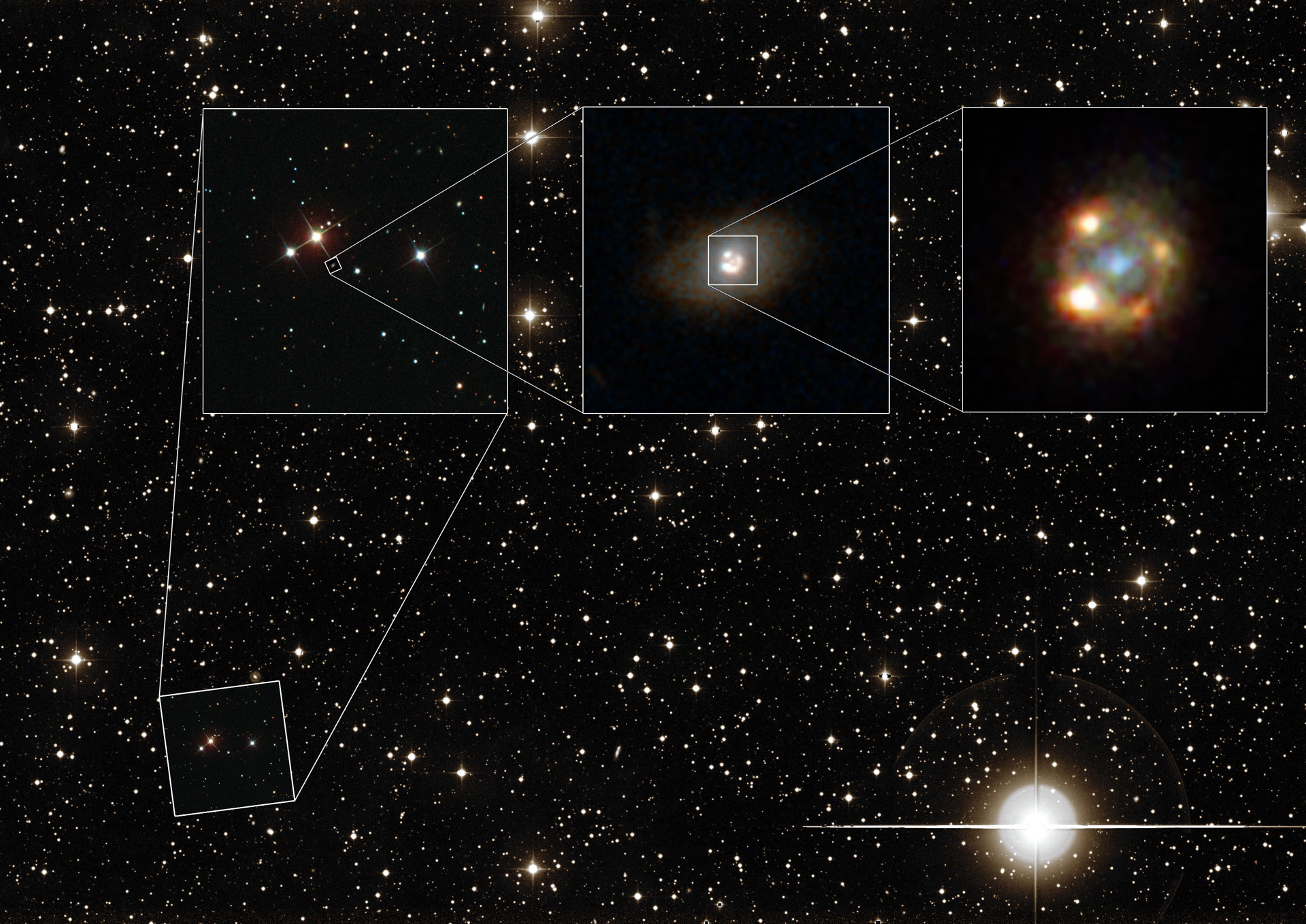 Astronomers View Hubble Images of a Gravitationally Lensed ...