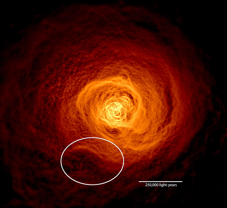 Astronomers View Hot Gas in the Perseus Galaxy Cluster