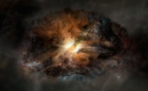 Astronomers View Luminous Galaxy Ripping Itself Apart