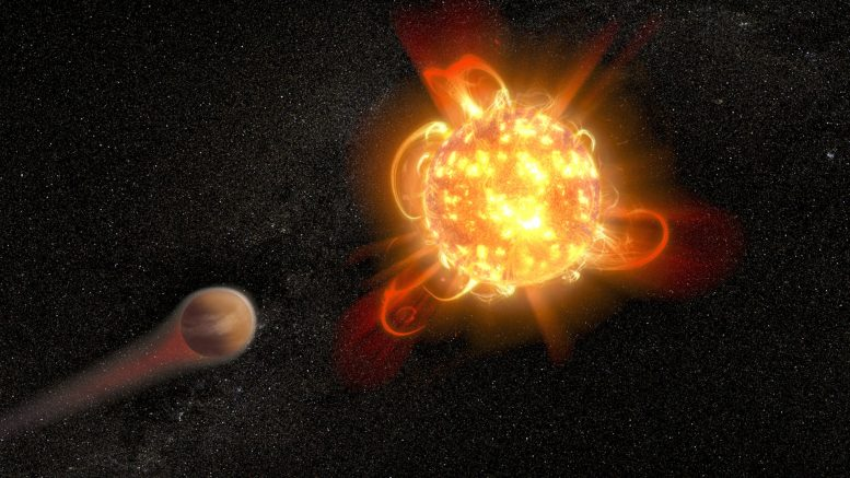 Astronomers View Superflares From Young Red Dwarf Stars