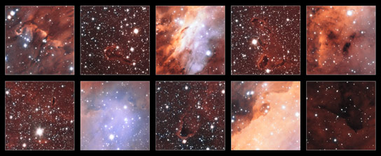 Astronomers View the Features of the Prawn Nebula