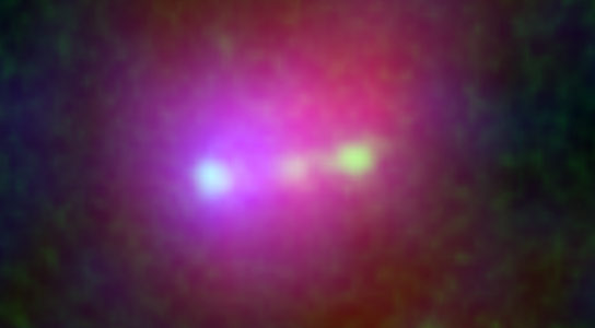 Astronomers View the Merger of Three Galaxies